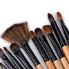High-end Log Brush Sets Soft Cosmetic Face Make-up Brush Powder Brush for Lady (24Pcs) for sale
