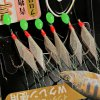 NO.13 Wonderful Fish Skin Bait Rig Steel Fishing Hook for Anglers (Silver)