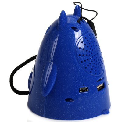 Гаджет   Portable HY-Q11 Four Colors Gophers Shape USB&TF Card Support Stereo Music Player Mini Speaker (Blue) Speakers