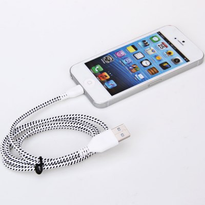 Portable Style 1M Fabric 8 Pin to USB Charger Sync Data Cable for iPhone 5 / 5C / 5SiPhone Cables &amp; Adapters<br>Portable Style 1M Fabric 8 Pin to USB Charger Sync Data Cable for iPhone 5 / 5C / 5S<br><br>Mainly Compatible with: iPhone 5<br>Type: Cable<br>Color: Black,White,Red,Green,Yellow<br>Interface Type: 8 pin<br>Cable Length (cm): 100 cm<br>Package weight: 0.045 kg<br>Package size (L x W x H): 7.00 x 4.00 x 1.00 cm / 2.76 x 1.57 x 0.39 inches<br>Package Contents: 1 x USB Cable