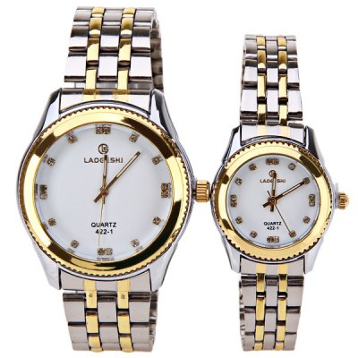 Гаджет   LaoGeShi Couple Watch with Quartz Round Dial Steel Watch Band Watches