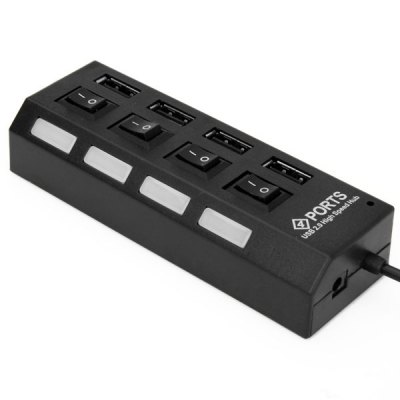 Portable and Practical 4 Ports USB2.0 Hub Transfers Data Up to 480Mbps