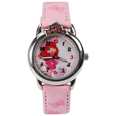 Гаджет   Astina Quartz Watch with 12 Numbers Indicate Leather Watch Band for Children - Pink Kids