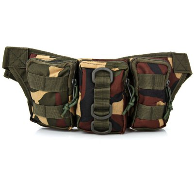 New Design Multi-purpose Waist Bag for Outdoor Activities - Camouflage
