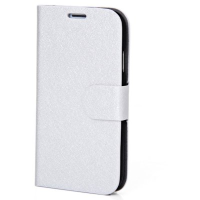 Silk Veins PU Leather and Plastic Stand Case for Samsung Galaxy S4 i9500 / i9505