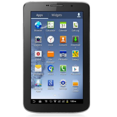 M8 Android 4.2 Phablet with 7 inch WVGA Screen MTK6572 Dual Core BluetoothTablet PCs<br>M8 Android 4.2 Phablet with 7 inch WVGA Screen MTK6572 Dual Core Bluetooth<br><br>Type: Phablet<br>OS: Android 4.2<br>CPU Brand: MTK<br>CPU: MTK6572<br>Core: 1GHz, Cortex-A9, Dual Core<br>RAM: 256MB<br>ROM: 512MB<br>External memory: TF card up to 64GB (not included)<br>Support Network: 2G, WiFi<br>WiFi: 802.11b/g/n wireless internet<br>Network type: GSM<br>Frequency: GSM 850/900/1800/1900MHz<br>3G : Not built-in 3G (Support external 3G)<br>Bluetooth: Yes<br>Screen type: Capacitive<br>Screen size: 7 inch<br>Screen resolution: 800 x 480 (WVGA)<br>Camera type: Dual cameras (one front one back)<br>Back camera: 2.0MP<br>Front camera: 1.3MP<br>Video recording: Yes<br>SIM Card Slot: Dual Standby, Dual SIM<br>TF Card Slot: Yes<br>Micro USB Slot: Yes<br>DC Jack: Yes<br>3.5mm Headphone Jack: Yes<br>2.5mm Headphone Jack: Yes<br>Battery Capacity: 2650mAh<br>Battery / Run Time (up to): 5 hours video playing time<br>AC adapter: 100-240V 5V 1A<br>Material of back cover: Plastic<br>G-sensor: Supported<br>Skype: Supported<br>Youtube: Supported<br>Speaker: Supported<br>MIC: Supported<br>Picture format: BMP, PNG, JPEG, GIF<br>Music format: WMA, AAC, MP2, MP3, WAV<br>Video format: 3GP, MP4, WMV, AVI<br>MS Office format: Word, Excel, PPT<br>E-book format: TXT, PDF<br>3D Games: Supported<br>Languages: Italian, English, Dutch, French, Portuguese, Spanish, German, Russian<br>Note: If you need any specific language other than English and you must leave us a message when you checkout<br>Additional Features: MP3, Video Call, Calendar, MP4, Bluetooth, WAP, Wi-Fi, MMS, Calculator, E-book, Sound Recorder, People, Browser, FM, Alarm<br>Product size: 18.5 x 11 x 0.8 cm<br>Package size: 22 x 15 x 7 cm<br>Product weight: 0.295 kg<br>Package weight: 0.5 kg<br>Tablet PC: 1<br>Tablet Case: 1<br>Power Adapter: 1<br>USB Cable: 1<br>Earphones: 1<br>English Manual: 1