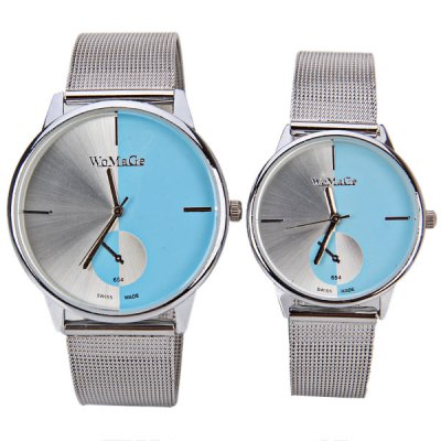 Гаджет   Valentine WoMaGe Quartz Couple Watch with Steel Watch Band Watches
