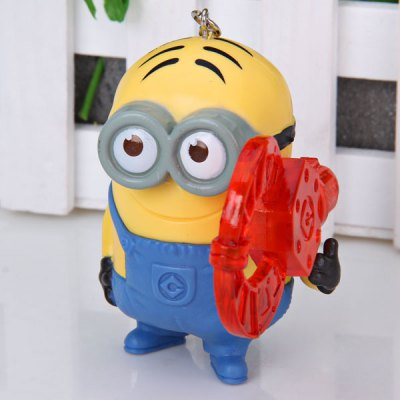 Гаджет   Set of 5Pcs Anime the Second Generation Despicable Me Funny Minion Dave Characteristic Figure Models KeyChain Dolls & Action Figures