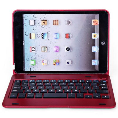 Гаджет   Plastic Protective Case with USB Bluetooth Keyboard for iPad Mini - Red iPad Cases/Covers