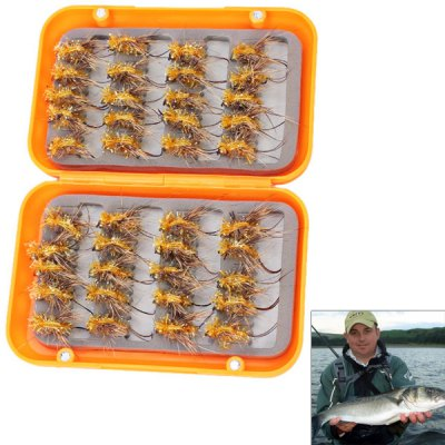 Fly Fishing Flies Hooks Feather Bait  Lures