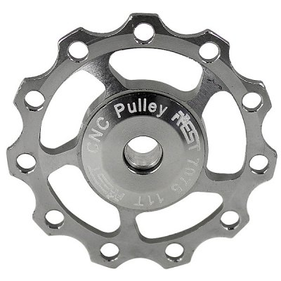 1PCS AEST A-06 Aluminium Jockey Wheel Rear Derailleur Pulley for Shimano and SRAM - SilverCycling<br>1PCS AEST A-06 Aluminium Jockey Wheel Rear Derailleur Pulley for Shimano and SRAM - Silver<br><br>Brand: AEST<br>Type: Jockey wheel rear derailleur pulley<br>Brand Name: AEST<br>Model Number: A-06<br>Material: Aluminum Alloy<br>Functions: High quality,Corrosion Resistant<br>Package weight: 0.040 kg<br>Product size (L x W x H): 4.3 x 4.3 x 0.6 cm<br>Package size (L x W x H): 5 x 5 x 1.5 cm<br>Package Contents: 1 x Aluminium Jockey Wheel Rear Derailleur Pulley