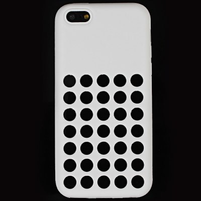ФОТО Hollow Pattern Silicone Protective Back Cover Case for iPhone 5C - White
