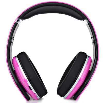 Гаджет   SKY-001 Superb Sound Folding Wireless Micro SD MP3 Player FM Stereo Radio Headset Headphones - Pink MP3 & MP4 Players