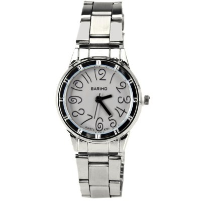 Гаджет   Bariho Quartz Watch with 12 Numbers Indicate Steel Watch Band for Women (Gray) Women