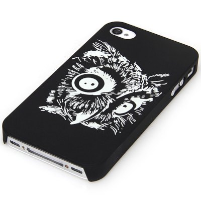 ФОТО Relievo Painting Eagle Pattern Noctilucent Plastic Material Case for iPhone 4 / 4S
