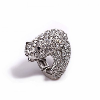 Гаджет   Chic Fully-Jewelled Hollow Frog Shape Alloy Ring For Men and Women Men