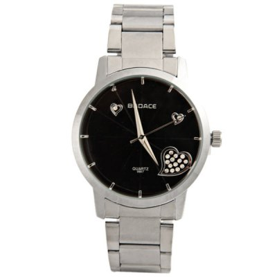 Гаджет   Badace Couple Watch with Round Dial Steel Watch Band Watches