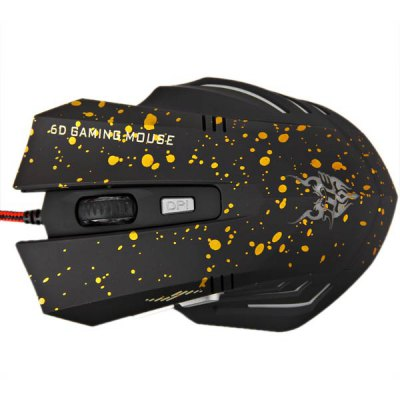 JITE-2054 Five Colors High Accuracy 6 Buttons Wired 6D Gaming Mouse with Blue Light
