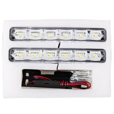 Гаджет   2 pcs XYC006-B Brand New 6-LED Day Time Running and Decorative Lamp (White Light)