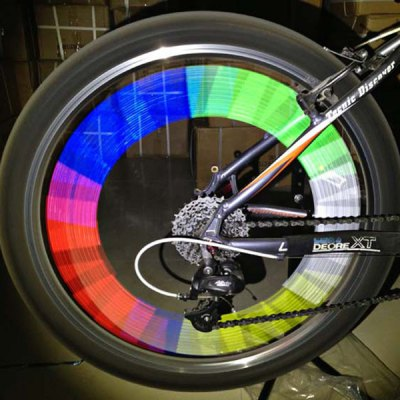 Bicycle Wheel Reflective Spokes Stickers