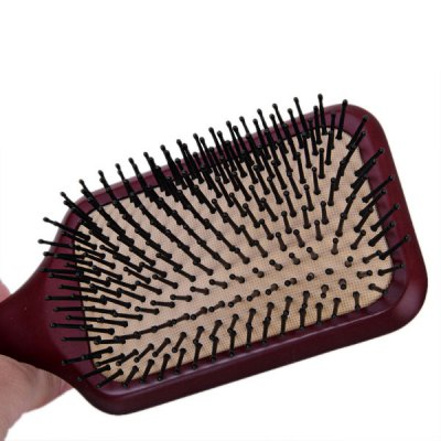 Гаджет   Plastic Needle Red Quadrate Super Soft Comb Beauty Tool for Daily Using Home Gadgets