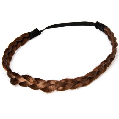 Bohemia Style Women Springy Wig Pigtail Hair Band - Deep Coffee