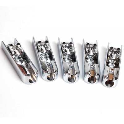 5PCS HJY-60 High Quality and Practical 5 String Individual Bridge with Accessories Bag (Silver)
