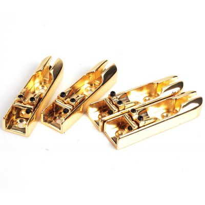 4PCS HJY-57 Practical Professional 4 String Bridge with Accessories Bag - Golden