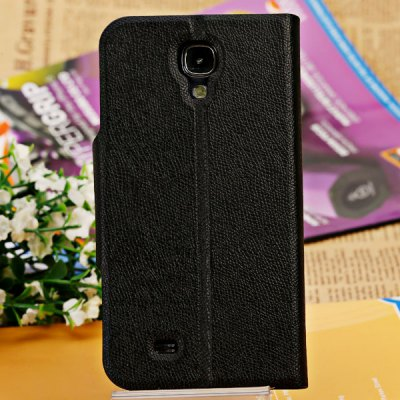 PU and TPU Stand Case with Phone Call View Window for Samsung Galaxy S4 i9500 / i9505
