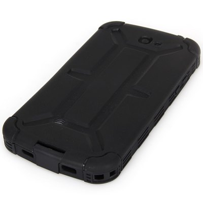 Cool Style Plastic Waterproof Case for Samsung Galaxy Note 2 N7100 - Black