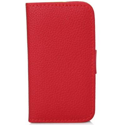 Fashion Flip Wallet Style Lychee PC + PU Leather Stand Case with Card Holder for iPhone 4 / 4S