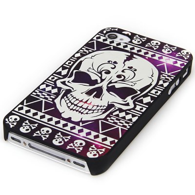 Relievo Painting Skull Pattern Noctilucent PC Case for iPhone 4 / 4S