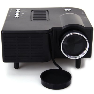 UC - 40 400 Lumens Two Colors Portable Home Mini LED Projector Support AV/SD/VGA/HDMIProjectors<br>UC - 40 400 Lumens Two Colors Portable Home Mini LED Projector Support AV/SD/VGA/HDMI<br><br>Model: UC-40<br>Material: Glass,Plastic<br>Display type: LCD<br>Native Resolution: 480 x 320<br>Brightness: 400 Lumens<br>Contrast Ratio: 300:1<br>Projection Distance: 1 - 3.8 m<br>Image Size: 20 - 120 inch<br>Lamp: LED<br>Interface: AV<br>Power Supply: 12V<br>Color: Black,White<br>Product weight: 0.386 kg<br>Package weight: 0.755 kg<br>Product size (L x W x H): 12.7 x 12.6 x 5.6 cm / 4.99 x 4.95 x 2.20 inches<br>Package size (L x W x H): 23.2 x 16.9 x 10.2 cm / 9.12 x 6.64 x 4.01 inches<br>Package Contents: 1 x Projector, 1 x Remote Control, 1 x Power Adapter, 1 x 3-in-1 AV Cable, 1 x User
