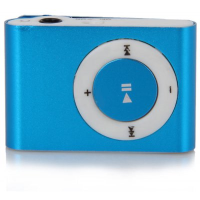 Simplicity Fashion Pocket MP3 Player 3.5mm Audio Jack with Back Clip and Micro SD Card Slot