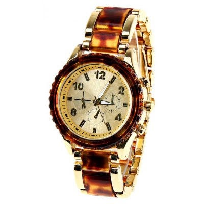 Kingsky Quartz Watch with 5 Number and Rectangles Indicate Plastic and Steel Watch Band for Men