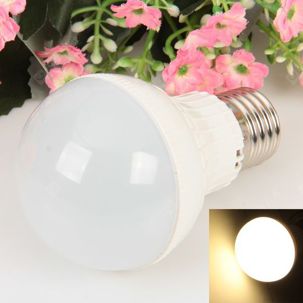 E27 18 - SMD 2835 LED 5W 85 - 265V Warm White Ball Bulb