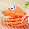 Portable Style 1M Fabric  8 Pin to USB Charger Sync Data Cable for iPhone 5 / 5S / 5C deal