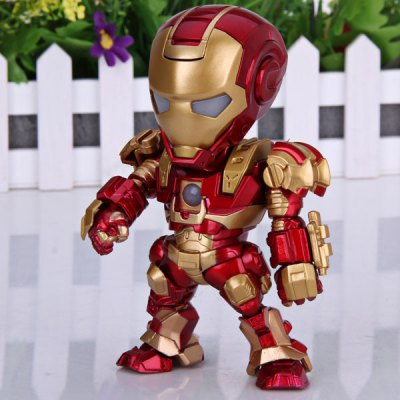 Funny Body Design Q Version Iron Man PVC Model