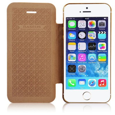 ФОТО Baseus Elegant Style PU and Aluminum Material Protective Cover Case for iPhone 5 / 5S
