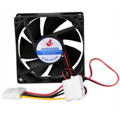 8025 Computer PC Square Shaped Case Fan 4P Extended Male to Female Interface Cooling Fan