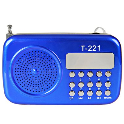 T - 221 Mini Radio Shaped Portable Speaker with Rechargeable Li - ion Battery