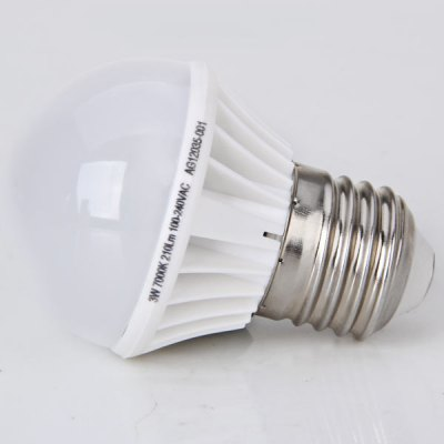 E27 3W AC100 - 240V 210lm White Ball Bulb