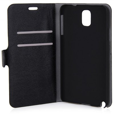 Silk Veins PU + PC Case with Card Holder for Samsung Galaxy Note 3 N9000