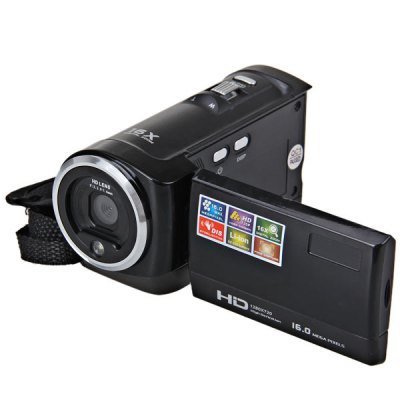 2.7 inch DV103High Definition LCD Screen 16.0MP Camcorder Digital Video Camera RecorderCamcorders<br>2.7 inch DV103High Definition LCD Screen 16.0MP Camcorder Digital Video Camera Recorder<br><br>Pixel: &gt;1300w<br>Screen size (inch): 2.7<br>Touch Screen: No<br>Memory support: SD card<br>Storage medium: Flash memory DV<br>External memory storage(Maximum, not included): SD card up to 32GB<br>Memory: Without memory<br>Sensor size (inch): 1/3.2<br>Sensor: CMOS<br>Image resoluion: 1920 x 1080 (2MP HD), 3648 x 2736 (10MP), 4608 x 3456(16MP), 2592 x 1944 (5MP), 640 x 480 (VGA), 1024 x 768 (1MP), 3648 x 2048 (7MP HD), 4000 x 3000 (12MP)<br>Video resolution: 640 x 480, 1280 x 720<br>Digital zoom: 16X<br>HD video: 1280 x 720<br>Focus range: 1.2m to infinity<br>Aperture: F: 3.2,  f= 6.5mm<br>Sensitivity: Auto<br>White balance: Cloudy, Automatic, Daylight, Tungsten light, Florescent light<br>File Format: AVI<br>Exposure compensation: -3.0~3.0<br>Self-timer: 10s, OFF, 2s, 5s<br>TV System : PAL, NTSC<br>Microphone: Built-in<br>Interface: TV output interface, SD card slot, AV interface, USB interface<br>Other functions: AV out<br>Frequency: 60Hz, 50Hz<br>Auto power off: Yes<br>Power supply: NP-10 lithuim battery<br>Product weight: 183 g<br>Package weight: 0.450 kg<br>Product size (L x W x H): 10.8 x 6.1 x 5.3 cm<br>Package size (L x W x H): 18 x 15  x 10 cm<br>Package contents: 1 x Camescope, 1 x Power Adaptor, 1 x AV-OUT Cable, 1 x USB Cable, 1 x Portable Bag, 1 x User Manual