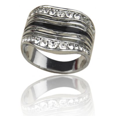 Chic Rhinestone Inlaid Ring For MenMens Jewelry<br>Chic Rhinestone Inlaid Ring For Men<br><br>Gender: For Men<br>Material: Rhinestone<br>Metal Type: Lead-tin Alloy<br>Style: Trendy<br>Shape/Pattern: Others<br>Metal Color: Antique Silver Plated<br>Diameter: 1.9CM<br>Weight: 0.05KG<br>Package Contents: 1 x Ring
