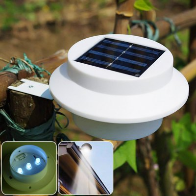 CIS-57206 Solar Powered LED Light 3-LED Pathway Path Step Stair Wall Mounted Garden Lamp