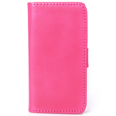 Elegant Crazy Horse Veins PU Leather and PC Wallet Flip Cover Case with Stand and Card Holder for iPhone 5C