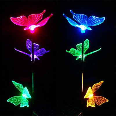 CIS-57240 Solar Color Changing Butterfly Light Garden Stake LampOutdoor Lights<br>CIS-57240 Solar Color Changing Butterfly Light Garden Stake Lamp<br><br>Type: Lawn Lights, LED Solar<br>Powered source: Solar<br>Light type: Night Light, Solar Light<br>Light color: Colorful<br>Features: Rechargeable<br>Package weight: 0.35 kg<br>Package size (L x W x H): 9 x 8.5 x 42.5 cm<br>Package Contents: 1 x Solar Power LED Light