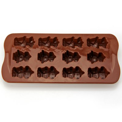Гаджет   Robot Style 12 Ice Grids Silicone Ice Cube Tray Cake Mould Kitchen & Dining