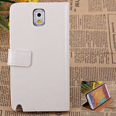 PU + PC Flip Stand Cover Case with Crazy Horse Texture Design for Samsung Galaxy Note 3 N9000 / N9005 / N9006